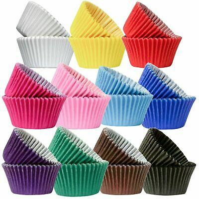 Good Quality Paper Baking Cupcake Muffin Cases - Bright & Pastel Colours