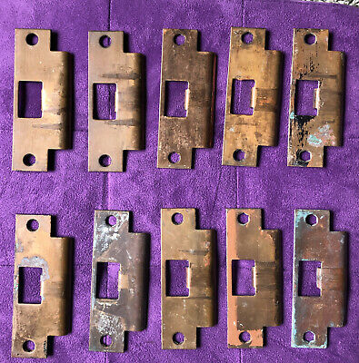 Vintage 'Fort Ord' Solid Brass Commercial Asa Strike Plates