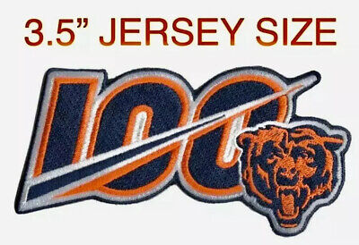 2019 CHICAGO BEARS 100th Anniversary Iron-on NFL Football Jersey PATCH Embroider