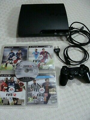 CONSOLE PS3 PLAYSTATION 3 SLIM 3.55 4.84 RBG FIFA 14 19 MINECRAFT DLC PAD no PS4