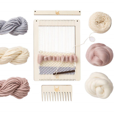 Wool Couture Small Rectangular Weaving Loom Quintessential Kit Pastel