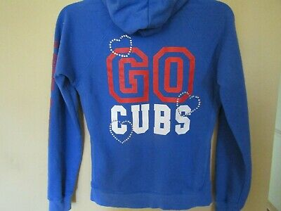quality design 740cc 509f9 VICTORIA SECRET~CHICAGO CUBS~WOMENS SMALL~LOVE PINK~Cubby  Blue~Sparkle~HOODIE