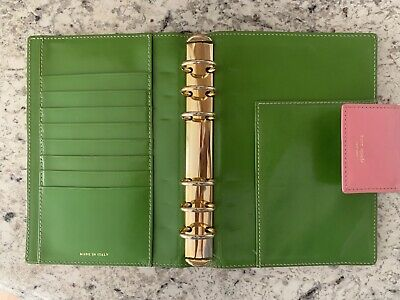 Kate Spade Leather Agenda Planner, Personal Size, Made In italy
