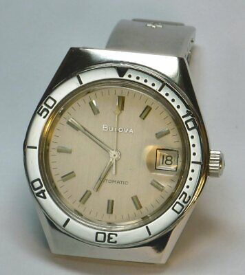 Vintage ('79) Stainless Steel 23J Bulova Automatic Dive Watch (Cal.11AOACD)