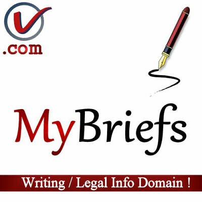 MyBriefs.com | SHORT Two Word COM Domain Name For Writing Or Legal Business