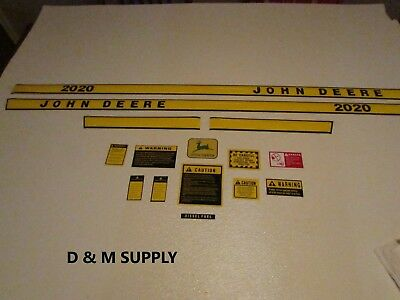 To fit John deere 2020 decal set with caution kit and logo