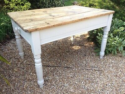 Antique Pine Scrub Kitchen Table