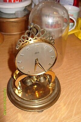 Schatz anniversary clock 400 DAY WORKING CLOCK COMPLETE  KEY  & PENDULUM & DOME