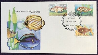 Stamps FIRST DAY COVER - FISH OF THE COCOS (KEELING) ISLANDS INDIAN OCEAN 1980