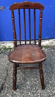 Antique Paris Manufacturing Co. Vintage Children's Chair Oak Wood #304