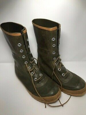 VINTAGE CONVERSE MEN'S Insulated Army Green Rubber Lace Up