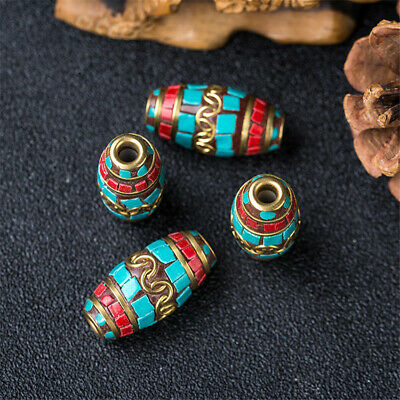 1Pcs Turquoise Copper Nepal Loose Beads Jewelry Making Opaque DIY Craft Lots