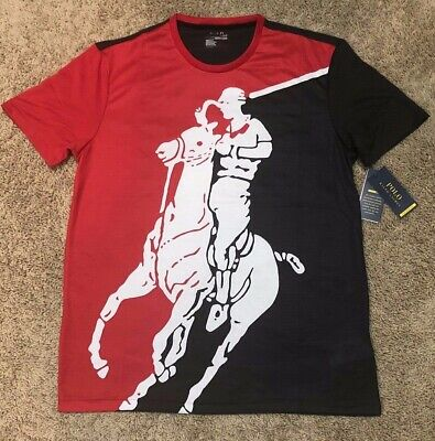 NWT Mens Polo Ralph Lauren Chariots Of Fire Big Pony Performance T-Shirt New