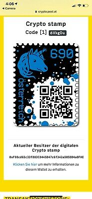 "2019 ""Austria""  BLUE CRYPTO STAMP AUSTRIA BLUE Edition Ethereum"