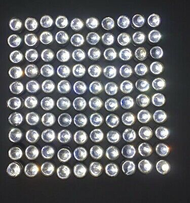 100 CLEAR GLASS CATEYE MARBLE REFLECTORS # 3 SZ -Signs,Road,Mailbox,Fence Marker
