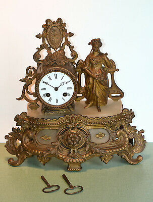 French Antique 19th Century Japy Frères Mantel Clock