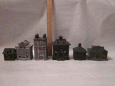 cast iron building bank lot tin tower state house church antique vintage penny