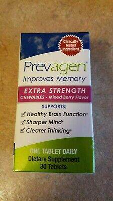 PREVAGEN Extra Strength Chewables - 20 Mg - 30 Ct - Mixed Berry - NEW/SEALED