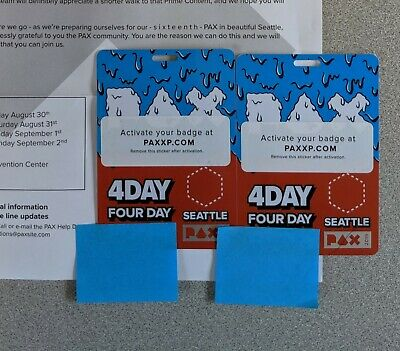 PAX West 2019 - 4 Day Badge Pass - In Hand - Free Priority Shipping