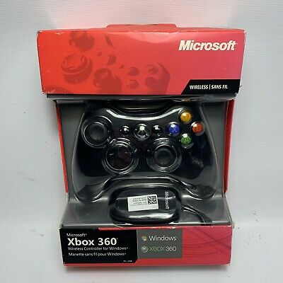 Official Microsoft Xbox 360 Wireless Controller for Xbox 360 & Windows PC - NEW