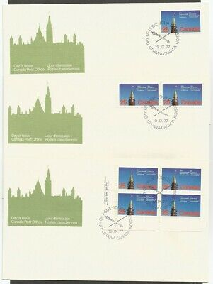 Canada Fdcs.canada Stamps 1977 Parliamentary Conference 25C Stamps #740 Cp