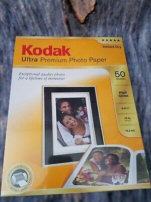 New Kodak Ultra Premium Photo Paper High Gloss 50 Sheets Instant Dry