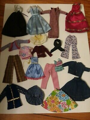 Lot Of Barbie Doll Clothes 20 Pieces Few Homemade
