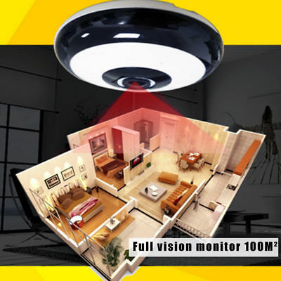960P HD WiFi IP Network IR-CUT Camera Baby Monitor Fish Eye Home Security Cam
