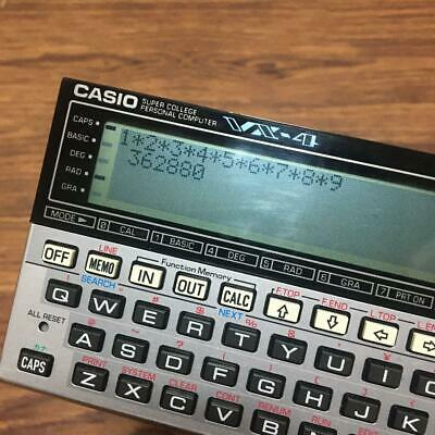 Casio Pocket Computer Super College VX-4 Used Vintage Vgood cond Made in Japan