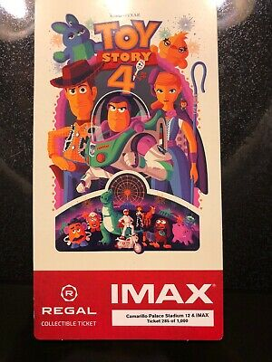 Toy Story 4 IMAX Regal Collectible Ticket Excellent Condition