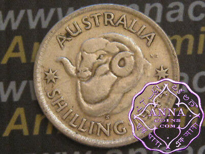 Australia 1944 S George VI Shilling X1, Average Circulated Condition