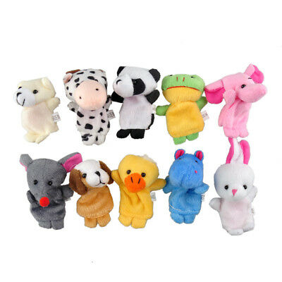 10PC Pack Baby Kid Finger Animal Toy Puppet Cloth Plush Doll Educational Story *