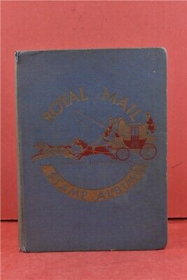 Vintage Blue Royal Mail Stamp Album From Around The World Partially Completed