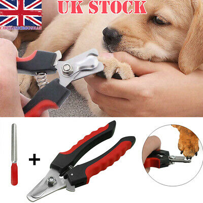Pet Nail Claw Clippers Dog Cat Animal Rabbit Bird Scissors Cutters Toe 2 Sizes