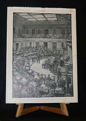 Antique Harper's Weekly G W Breck Engraving: The United States Senate In Session