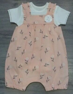 Mothercare   Baby Girl 2 Piece  Romper Set New With Tags Size Up To One Month