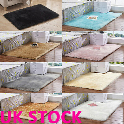 Soft Cosy Shaggy Rugs Fluffy Living Room Area Carpets Bedroom Runners Home UK