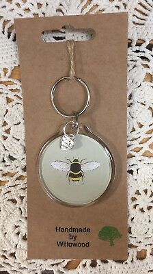 Sophie Allport Handmade Beautiful Key Ring With Charm ~ /'Bees/'