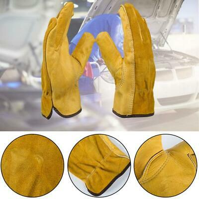 Work Gloves Leather Safety Protect Mechanic Gardening Gloves Protection