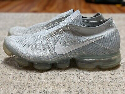 Nike Air Vapormax Flyknit 2017 SIZE 9.5 Pure Platinum Grey No Laces No Insole