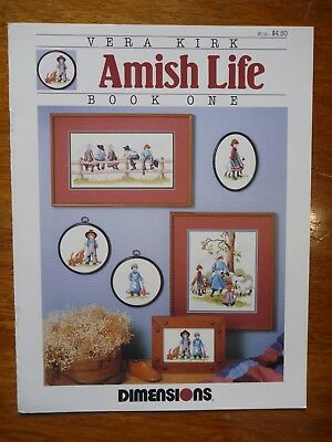 Dimensions Cross Stitch Pattern Leaflet #119 - Amish Life