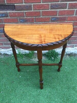 Victorian Era Timber Antique Hall Table / Half Round Table Just French Polished