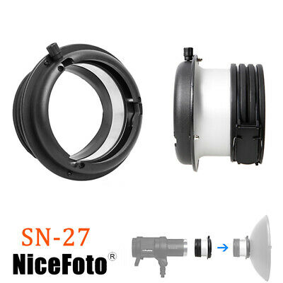 NiceFoto SN-27 Profoto Mount to Bowens Mount Adapter Ring For Strobe Flash Light