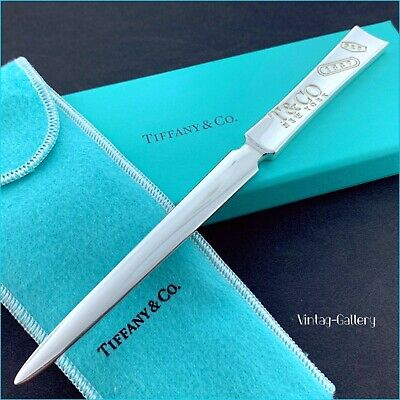 """TIFFANY & Co. Sterling Silver """"T & CO New York 1837"""" Letter Opener VINTAGE 2005"""
