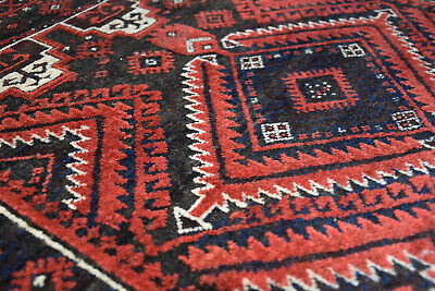 Superb Antique Hand Knotted Wool Balouch Tribal Pile C1900  Persia