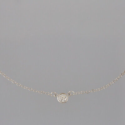 Tiffany & Co. Diamonds By The Yard Necklace Sterling Silver Three Diamonds