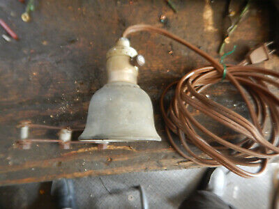 Vintage Delta Milwaukee Rockwell Bell Shaped Machine Lamp Light With Mount B