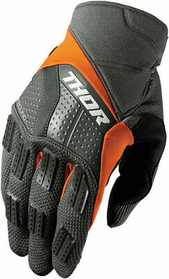 Thor Rebound Motocross Race MX Offroad Gloves Charcoal Orange Adults