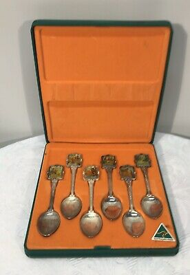 Perfection Souvenir Silver Plated Waltzing Matilda Spoon Set