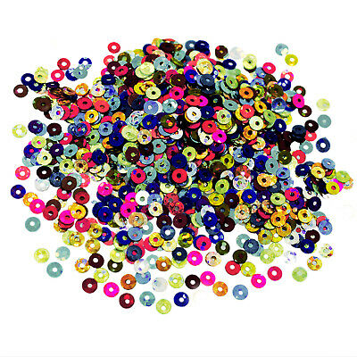 4MM Round Holographic Sequins Mixed Color Embroidery Craft Making Sequin 50Grams